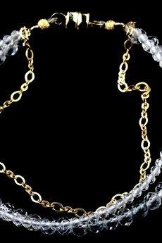 Brazi Druse Jewelry - Bransoletka Kryształ Górski złoto