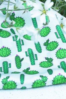 Poszetka jedwabna kaktus