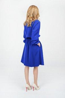Bien Fashion - Sukienka dzienna midi z bufiastymi rękawami