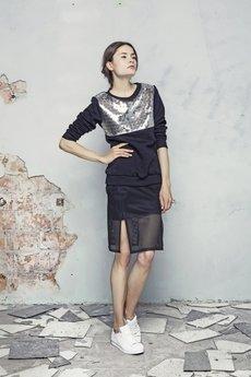 Bluza srebrna poziom