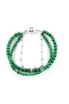 Brazi Druse Jewelry - Bransoletka Malachit srebro