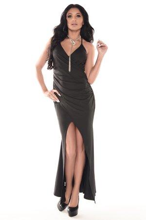 Sukienka długa czarna Renee