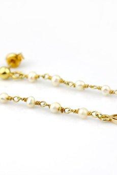 Earrings perly zloto