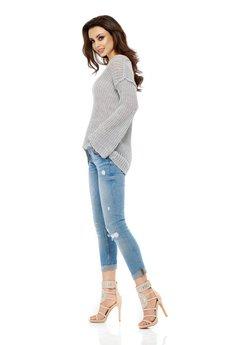 Lemoniade - LEMONIADE  Asymetryczny sweter damski LS200