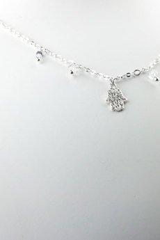 Brazi Druse Jewelry - Choker Kryształ Górski&Szafir srebro