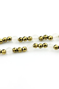 Brazi Druse Jewelry - Różaniec Jadeit&Hematyt