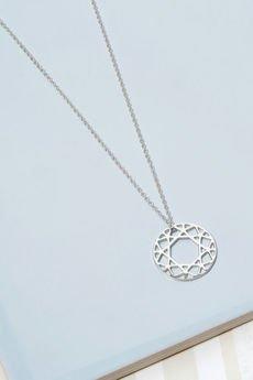 MYIA - NASZYJNIK BRILLIANT DIAMOND - SREBRNY