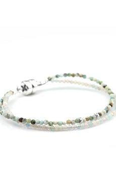 Brazi Druse Jewelry - Bransoletka Kamień Księżycowy&Larimar