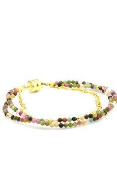 Brazi Druse Jewelry - Bransoletka Turmalin Różowy złoto