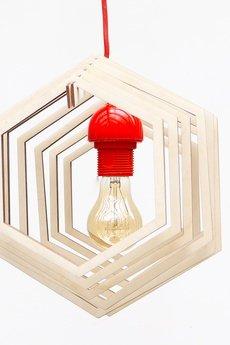 Ply lamp - LAMPA SUFITOWA, WISZĄCA, HEXAGON