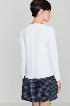 LENITIF - Sukienka K423 Biały Wzór 40