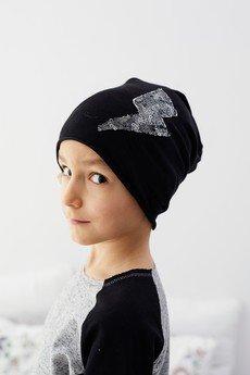 cudiKiDS - Czarna czapka PIORUN