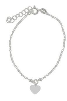 ATdiament - Srebrna bransoletka z serduszkiem