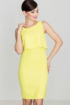 LENITIF - Sukienka K388 Limonka