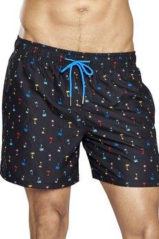 HAPPY SOCKS - Szorty kąpielowe Happy Socks Palm Beach
