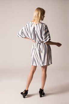 Holystic - Sukienka kimono biała