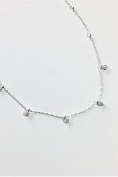 ATdiament - Srebrny naszyjnik choker z cyrkoniami 925