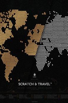 Scratch Map - Mapa Zdrapka Świata LOFT BLACK© Scratch&Travel™
