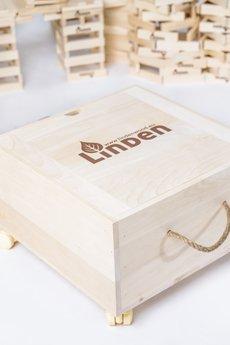 Linden klocki - Drewniana skrzynia Linden 45 x 45 x 26 cm