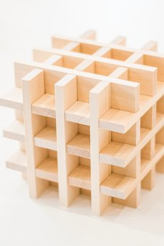 Linden klocki - Drewniane klocki konstrukcyjne Linden 300 sztuk w worko-plecaku