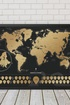Mapa zdrapka swiata scratch travel w ramie