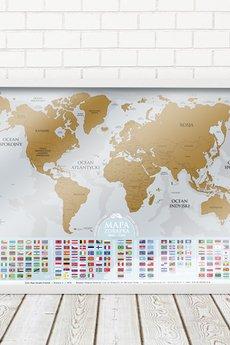 Scratch Map - MAPA ZDRAPKA PREMIUM© GOLD w ramie