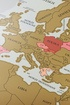 Mapa zdrapka premium gold w ramie