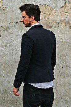 Button - Exclusive Jacket Black Blazer czarna marynarka