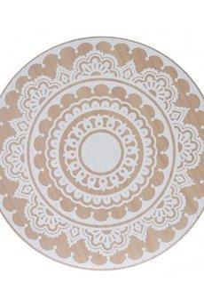 MIA home passion - Stolik Drewniany Z Wzorem