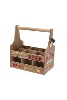 MIA home passion - Skrzynka Na 6 Butelek Z Otwieraczem