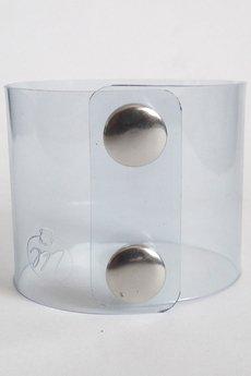 - Bransoleta plastik przeźroczysty