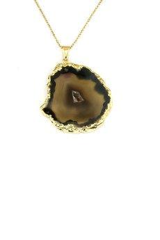 Brazi Druse Jewelry - Colare Plaster Geody Agatu złoto