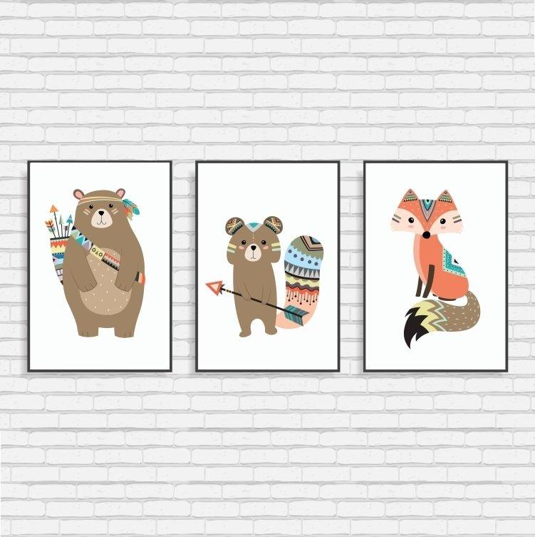 Plakaty Obrazki Tryptyk Do Pokoju Dziecka Wiele Kolorów