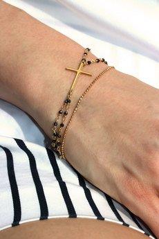 Brazi Druse Jewelry - Bransoletka Spinel Metalizowany złoto