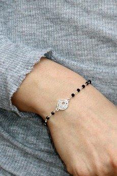 Brazi Druse Jewelry - Bransoletka Spinel srebro mandala