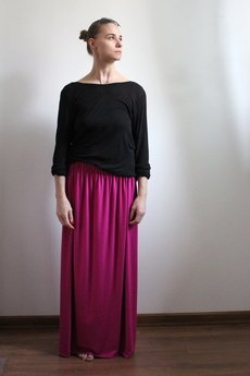 - Długa zwiewna spódnica fuksja