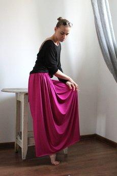 Szarymary - Długa zwiewna spódnica fuksja