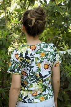 dzieńdobry - T-shirt damski BIAŁY