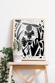 Dwie Lewe Ręce - plakat DŻUNGLA III 30x40 cm