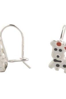 ATdiament - Srebrne kolczyki piesek z emalią dla dzieci