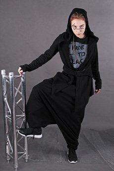 PIKIEL - Dzianinowa bawełniana bluza KIYOSE z kapturem