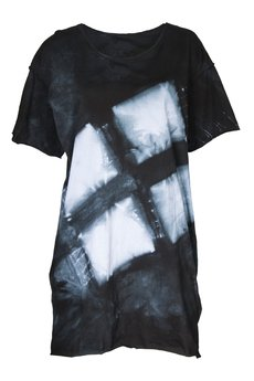 - ręcznie farbowany t-shirt SHIBORI