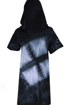 PIKIEL - ręcznie farbowany t-shirt SHIBORI