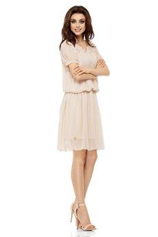 Lemoniade - LEMONIADE  Letnia szyfonowa sukienka z krótkim rękawem L241