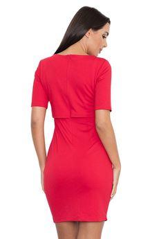 FIGL - Sukienka446 Czerwony