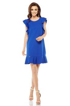 Lemoniade - LEMONIADE  Wizytowa sukienka z falbankami L248