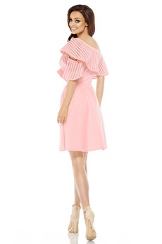 Lemoniade - LEMONIADE  Sukienka koktajlowa na jedno ramię L246