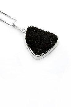 Brazi Druse Jewelry - Colare Druza Agatu Black srebro