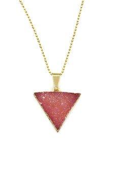 Brazi Druse Jewelry - Colare Druza Agatu Sweet Pink  złoto