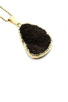 Brazi Druse Jewelry - Colare Druza Agatu Sugar Black  złoto